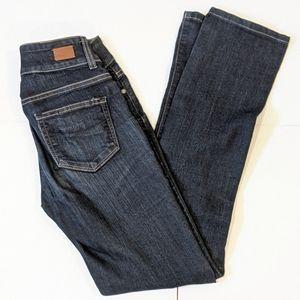 2/$20 Paige hidden Hills straight jeans sz 26